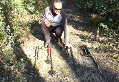 4 bâtons Décathlon pour le Trek et la rando